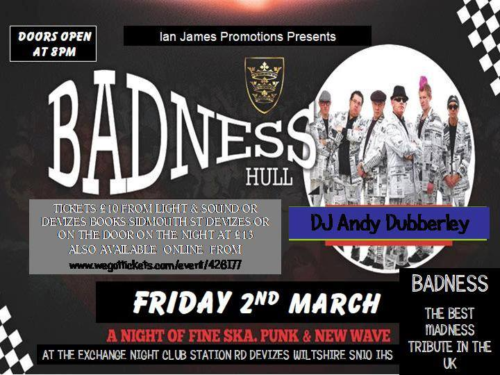 Bad Manners Tribute - Devizes - Wiltshire